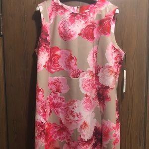 Calvin Klein Flower Knee Length Dress
